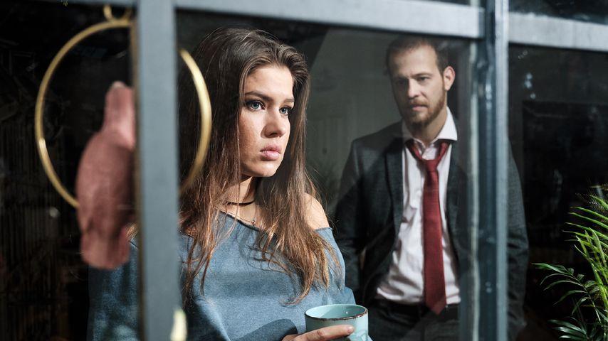 """Vivien (Sharon Berlinghoff), Tobias (Patrick Müller) in einer """"Unter uns""""-Szene"""