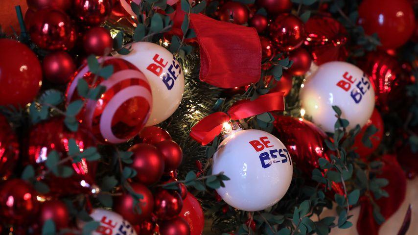 Weihnachtliche Dekoration im Weißen Haus in Washington D. C.