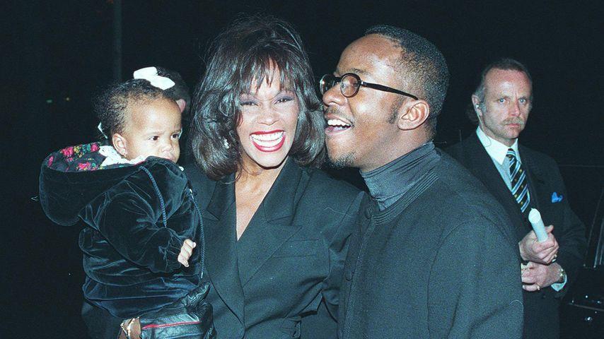 Whitney Houston mit Bobbi Kristina und Bobby Brown