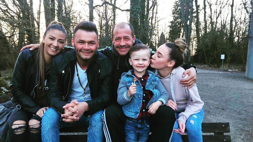 Willi Herren mit seiner Schwiegertochter, Sohn Stefano, Enkel Emilio und Tochter Alessia