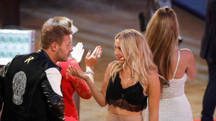 "Willi Herren und Evelyn Burdecki in der ""Promi Big Brother""-Finalshow"
