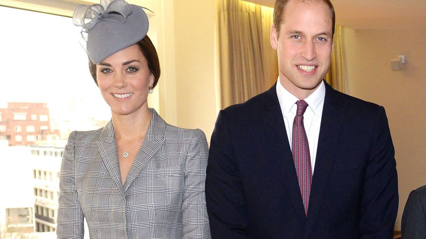 Herzogin Kate & Prinz William reisen ohne George