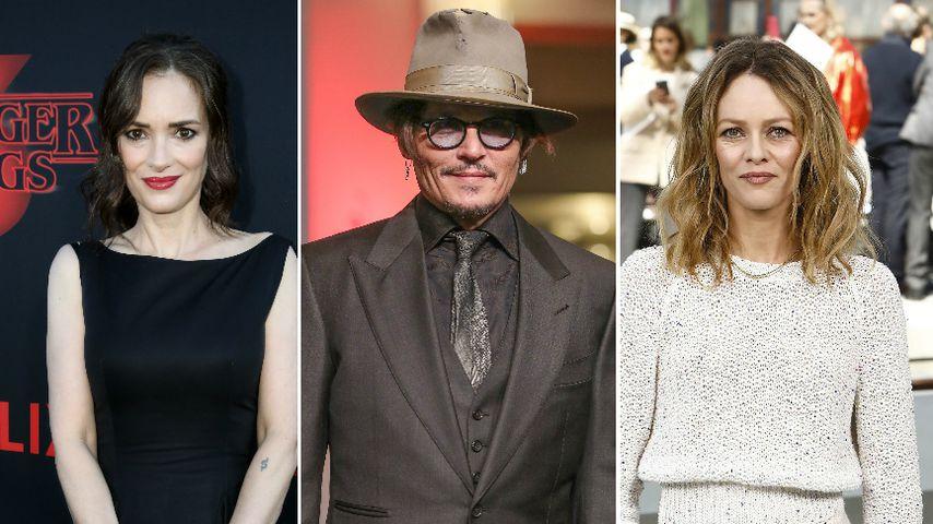 Für Johnny Depp: Ex-Freundinnen Winona und Vanessa sagen aus