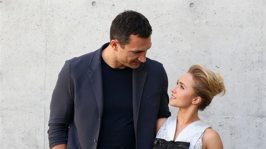 Wladimir Klitschko und Hayden Panettiere auf der Mailander Fashion Week 2014