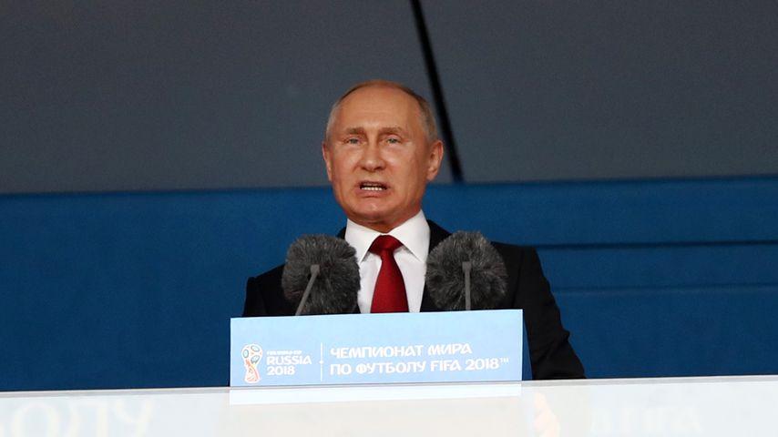 Wladimir Putin bei der Eröffnungsfeier der WM 2018