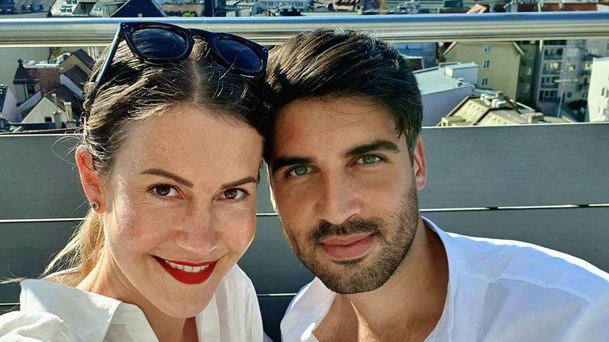 Wolke Hegenbarth mit ihrem Partner Oliver Vaid, August 2020