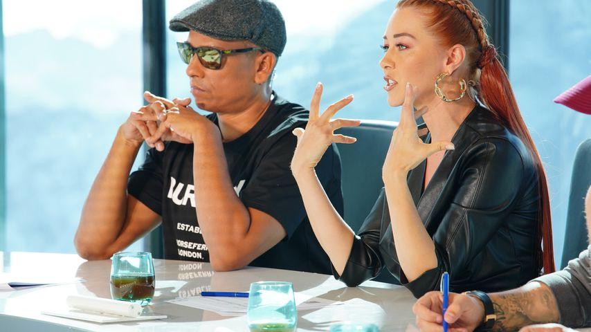 Xavier Naidoo und Oana Nechiti im DSDS-Recall