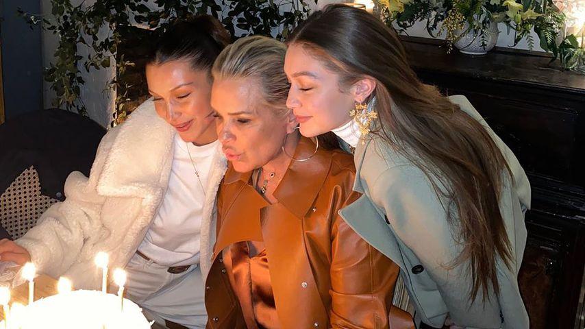 Yolanda Hadid mit ihren Töchtern Bella und Gigi