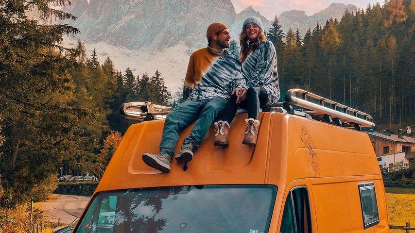 Yvonne Pferrer mit ihrem Partner, Oktober 2020