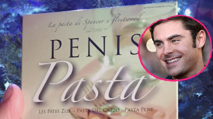 Rezept für Penis-Nudeln: Zac Efron erhält skurriles Geschenk
