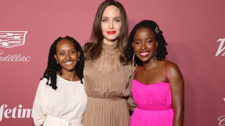 Zahara Jolie-Pitt, Angelina Jolie und Amanda Gorman bei einem Event in Beverly Hills, September 2021