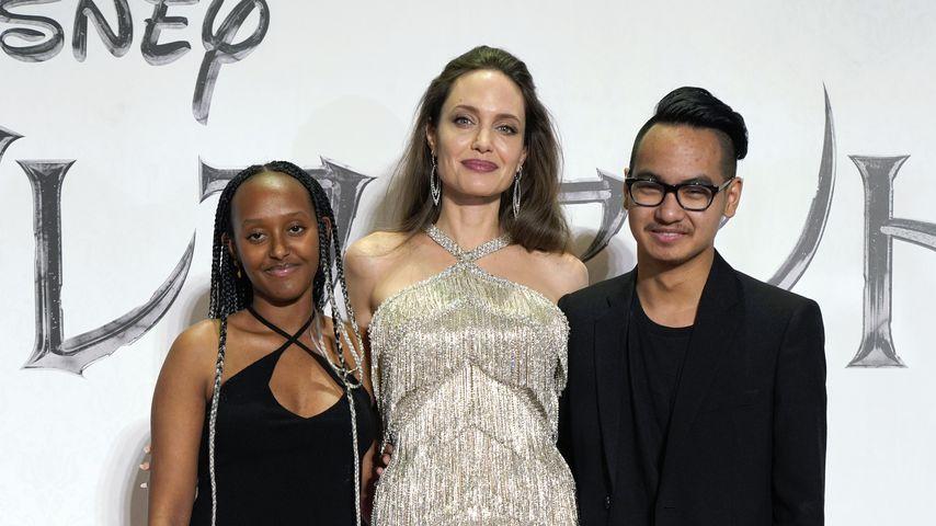 Zahara Jolie-Pitt, Angelina Jolie und Maddox Jolie-Pitt in Tokio, 2019