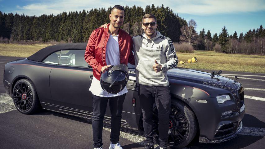 Zauberkünstler Farid und Lukas Podolski