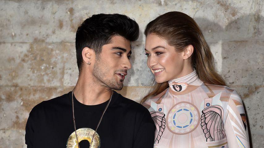 Zayn Malik und Gigi Hadid auf der Fashion Week in Paris, 2017