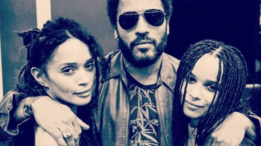 Lisa Bonet, Lenny Kravitz und Zoe Kravitz
