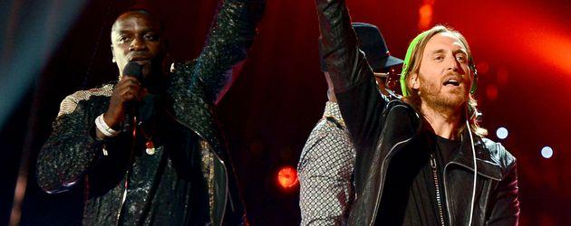 Akon und David Guetta bei den Billboard Awards 2013