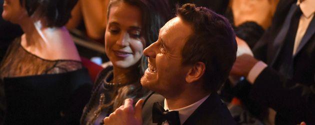Alicia Vikander und Michael Fassbender bei der Verleihung der Bafta-Awards in London