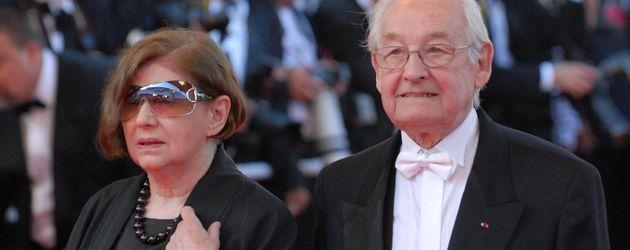 Andrzej Wajda mit seiner Frau bei den Oscars