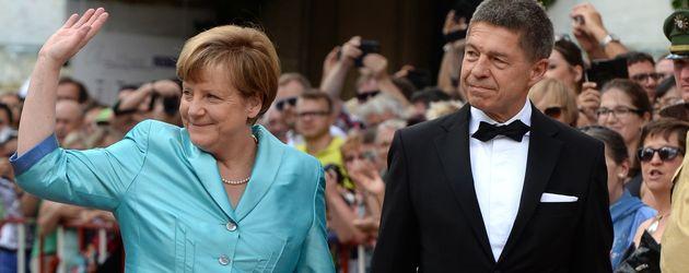 Angela Merkel und Joachim Sauer