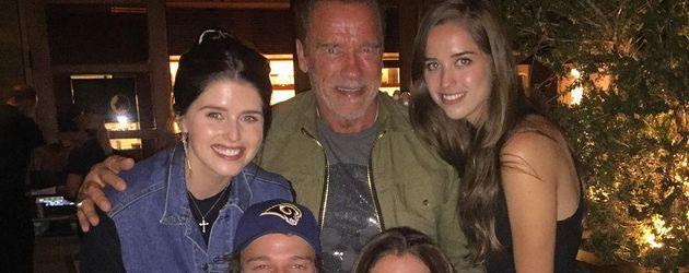 Arnold Schwarzenegger mit seiner Ex-Frau Maria Shriver und den gemeinsamen Kindern im September 2016