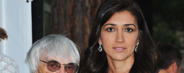 Bernie Ecclestone mit seiner Ehefrau Fabiana Flosi im Jahr 2012