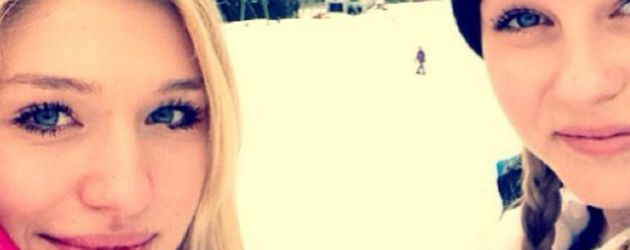 Bibi Heinicke und Dagi Bee im Skiurlaub