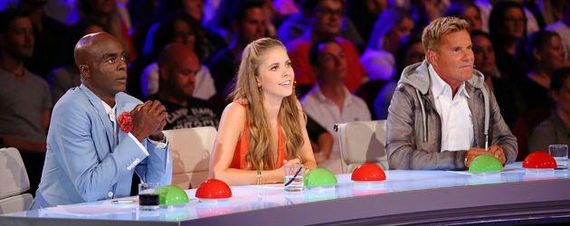 """Bruce Darnell, Victoria Swarovski und Dieter Bohlen bei """"Das Supertalent"""""""