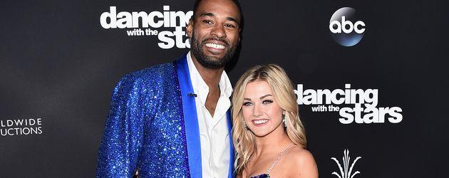 """Calvin Johnson und Profi-Tänzerin Lindsay Arnold beim Finale von """"Dancing with the Stars"""""""