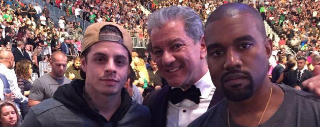 Casper Smart, Bruce Buffer und Kanye West bei der UFC 202 in Las Vegas