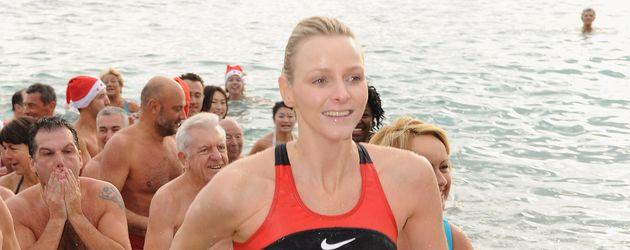 Charlène von Monaco bei einem Charity-Schwimmen