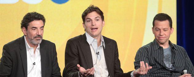 Ashton Kutcher, Chuck Lorre und Jon Cryer