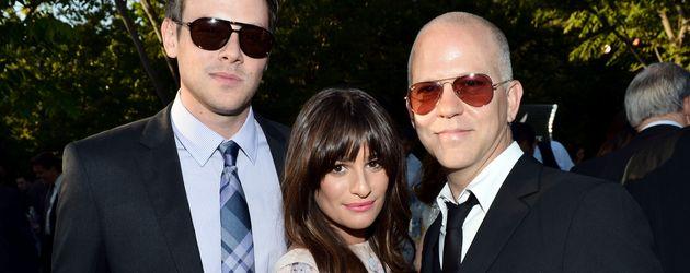 Lea Michele, Cory Monteith und Ryan Murphy