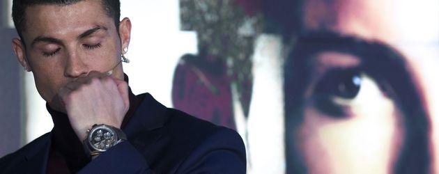 "Cristiano Ronaldo bei der Vorstellung seines Herrenduftes ""Cristiano Ronaldo Legacy"""