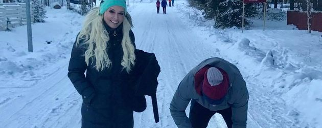 Daniela Katzenberger mit Lucas Cordalis und Sophia in Finnland