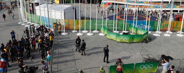 Eine Kamera stürzte in Rios Olympia-Park ab