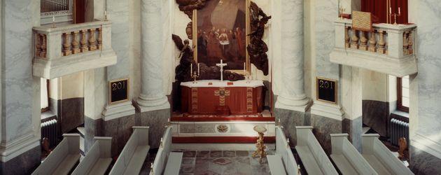 Der Innenraum der Drottningholm Schlosskirche