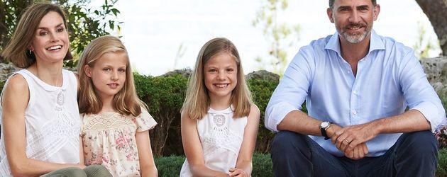 Die spanische Familie im Urlaub