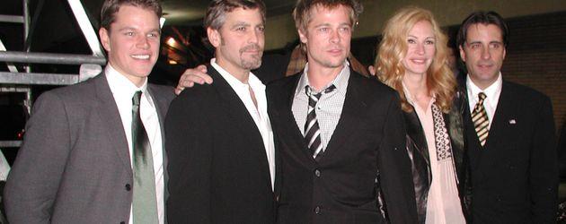 Matt Damon, George Clooney, Brad Pitt, Julia Roberts und Andy Garcia