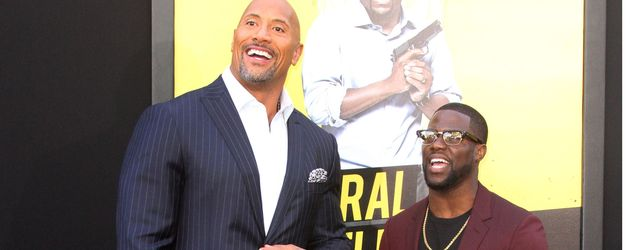 "Dwayne ""The Rock"" Johnson mit Kevin Hart in Los Angeles"