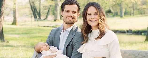 rstes Familienfoto von Carl Philip, Sofia und Alexander