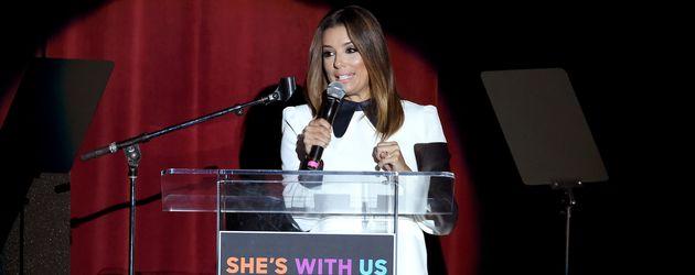 Eva Longoria bei einem Wahlkampf-Konzert 2016 für Hillary Clinton