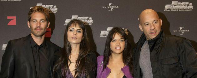 Vin Diesel, Michelle Rodriguez, Paul Walker und Jordana Brewster