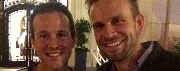 Scott Weinger, Andrea Barber, Candace Cameron-Bure und John Brotherton auf einem Selfie