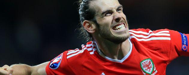 Gareth Bale beim Spiel Wales gegen Russland EM 2016