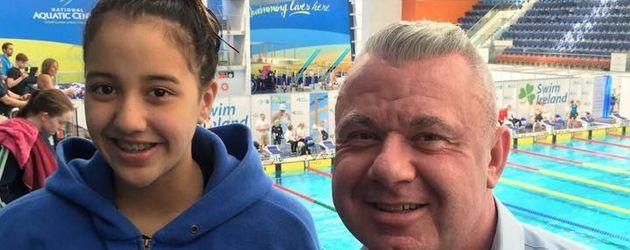 Gaurika Singh und Trainer Rhys Gormley bei Olympia 2016