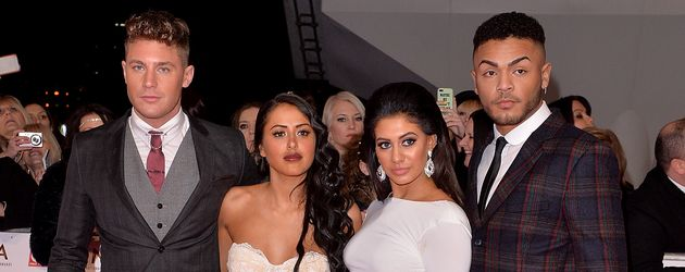 """Geordie Shore""-Stars Scott Timlin, Marnie Simpson, Chloe November und Nathan Henry in London"
