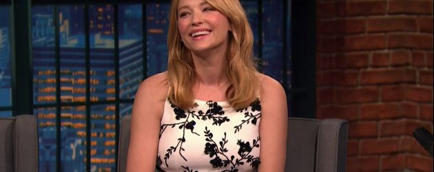 "Haley Bennett bei NBC's ""Late Night with Seth Meyers"""