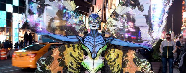 Heidi Klum als Fliege bei ihrer Halloween-Party 2014