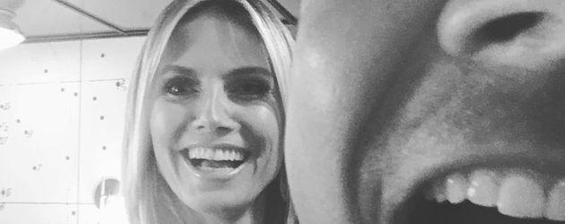 """Heidi Klum und Jimmy Fallon backstage bei der """"Tonight Show"""""""