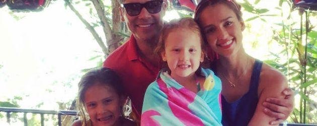 Familie Alba/Warren feiert den 5. Geburtstag von Tochter Haven